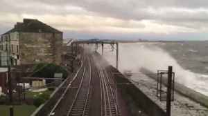 Storm batters train line on Scotland's west coast [Video]