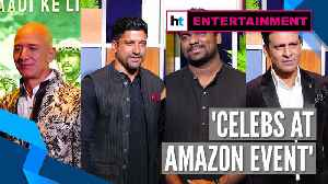 Jeff Bezos, Farhan Akhtar, Zakir Khan, Manoj Bajpayee at Amazon blue carpet event [Video]