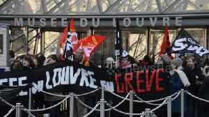 Nationwide french strike: Louvre Museum strike.17jan2020 [Video]
