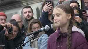 Greta Thunberg addresses climate march in Switzerland
