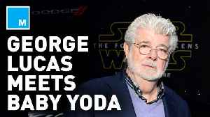 George Lucas finally met Baby Yoda and Star Wars fans are loving it [Video]