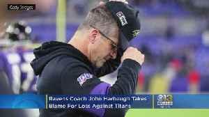 Ravens Coach John Harbaugh Takes Blame For Loss Against Titans [Video]