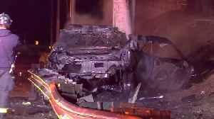 HORRIFIC CRASH: Driver of stolen vehicle dies in fiery San Jose crash [Video]