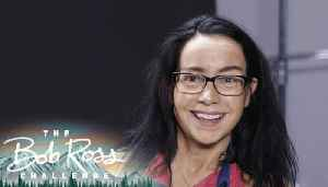 Janeane Garofalo goes abstract on a Bob Ross painting — The Bob Ross Challenge [Video]