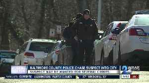 Baltimore County Police chase suspect into city [Video]