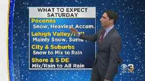 Philadelphia Weather: Tracking Weekend Snow [Video]