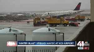 Winter blast wreaks havoc at KCI [Video]