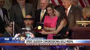Steve Gleason awarded Congressional Gold Medal [Video]