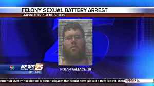 Felony sexual battery arrest [Video]