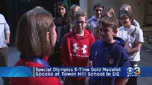 Special Olympic Gold Medalist Speaks At Wilmington School [Video]