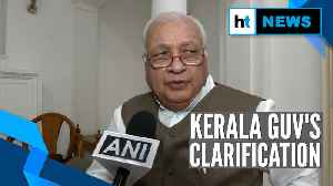Kerala Governor clarifies 'rubber stamp' remark, denies rift with State govt [Video]
