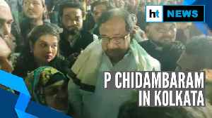 Watch: P Chidambaram joins protest against CAA, NRC in Kolkata [Video]
