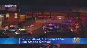 1 Injured, 2 Arrested After LIRR Station Slashing [Video]