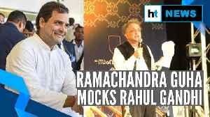 News video: Watch: Ramachandra Guha's 'fifth generation dynast' jibe at Rahul Gandhi
