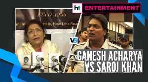 Watch: Saroj Khan Vs Ganesh Acharya over Cine Dancers Association [Video]