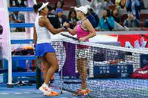 News video: Osaka plays down rivalry with Barty
