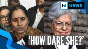 Who is she to question me?: Delhi gang rape victim's mother on Jaising's pardon urge [Video]