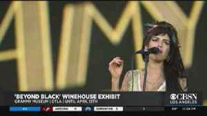 Amy Winehouse Exhibit Opens At Grammy Museum [Video]