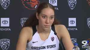Web Extra: Oregon State Beavers after Cal win (1/17/20) [Video]