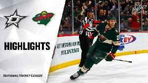 NHL Highlights | Stars @ Wild 1/18/20 [Video]