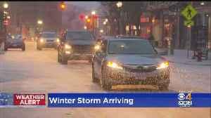 Winter Storm Begins In Lowell [Video]
