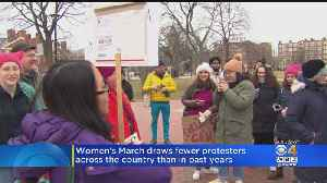 Women's March Protesters Gather In Cambridge For Third Annual Protest [Video]