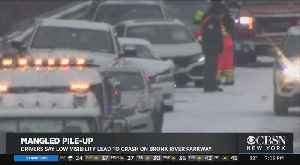 Drivers Say Low Visibility Caused Crash On Bronx River Parkway [Video]