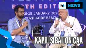 News video: 'No state can deny implementation of CAA': Kapil Sibal