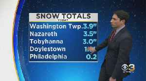 Philadelphia Weather: Snowy Weather Moves Out [Video]