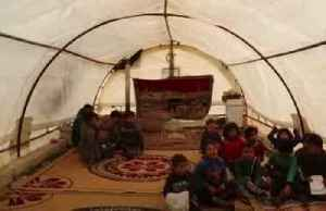 Having fled bombing, Syrian children learn to read in borderland tent schools [Video]
