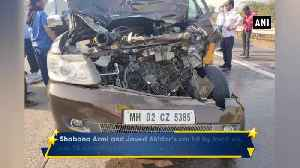 News video: Shabana Azmi injured in car accident on Mumbai Pune Expressway