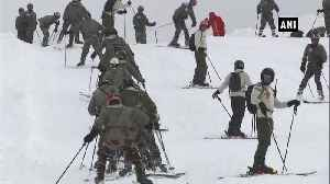 Indian Army team gets ready for National Ski competition [Video]