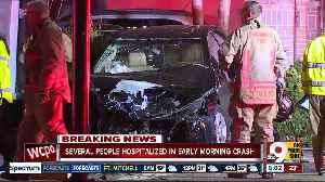 Six injured in 'catastrophic' crash [Video]