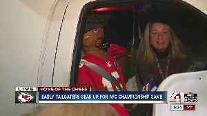 Chiefs fans plan ahead, can't wait to enter stadium for playoff football [Video]