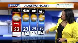 Partly sunny, windy for Sunday game day [Video]