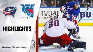 NHL Highlights | Blue Jackets @ Rangers 01/19/20 [Video]