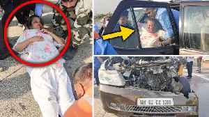 Javed Akhtar' Wife Shabana Azmi BADLY Injured In A Terrible ACCID€NT   Photos Viral [Video]