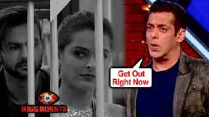News video: Salman Khan Gets ANGRY On Vishal - Madhurima, Asks Them To LEAVE The House | Bigg Boss 13