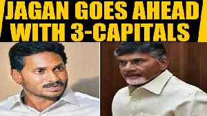 News video: Andhra Pradesh: Jagan Mohan Reddy Govt introduces 3-Capital bill in Assembly,Cabinet clears proposal