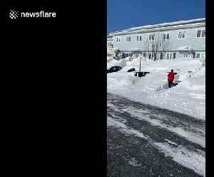 Residents dig out after blizzard hits Canadian province of Newfoundland and Labrador [Video]