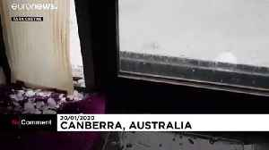 Powerful hail storm brings Australian capital, Canberra, to a halt