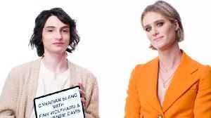 Finn Wolfhard & Mackenzie Davis Teach You Canadian Slang [Video]