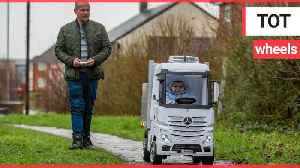 Uncle builds huge remote controlled truck for nephew [Video]