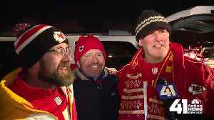 Chiefs fans celebrate AFC Championship win [Video]