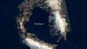 Volcanic Eruption Created This Island Shaped Like A Horseshoe [Video]