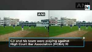 Watch: Chief Justice of India SA Bobde plays cricket, scores 18 runs [Video]