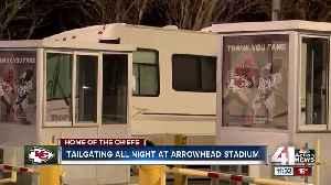 Tailgating all night at Arrowhead Stadium [Video]