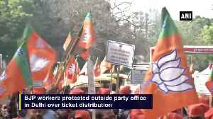 Delhi elections BJP workers show rage over party ticket distribution [Video]