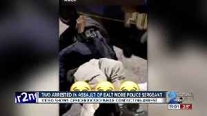 Two arrested in connection to the assault on a Baltimore Police Sergeant [Video]