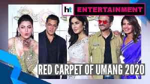 Salman Khan, Priyanka Chopra, Katrina Kaif & others stun at red carpet of Umang 2020 [Video]